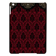 Elegant Black And Red Damask Antique Vintage Victorian Lace Style iPad Air Hardshell Cases