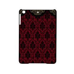 Elegant Black And Red Damask Antique Vintage Victorian Lace Style iPad Mini 2 Hardshell Cases