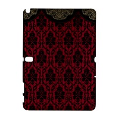 Elegant Black And Red Damask Antique Vintage Victorian Lace Style Galaxy Note 1
