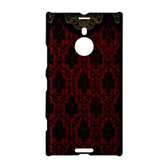 Elegant Black And Red Damask Antique Vintage Victorian Lace Style Nokia Lumia 1520
