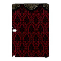 Elegant Black And Red Damask Antique Vintage Victorian Lace Style Samsung Galaxy Tab Pro 10.1 Hardshell Case