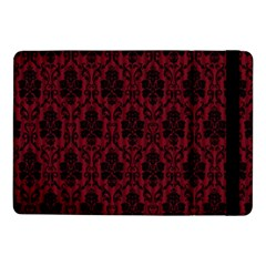 Elegant Black And Red Damask Antique Vintage Victorian Lace Style Samsung Galaxy Tab Pro 10.1  Flip Case