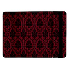 Elegant Black And Red Damask Antique Vintage Victorian Lace Style Samsung Galaxy Tab Pro 12.2  Flip Case