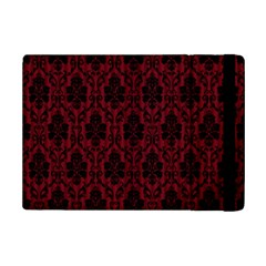 Elegant Black And Red Damask Antique Vintage Victorian Lace Style iPad Mini 2 Flip Cases