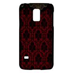 Elegant Black And Red Damask Antique Vintage Victorian Lace Style Galaxy S5 Mini