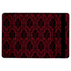 Elegant Black And Red Damask Antique Vintage Victorian Lace Style iPad Air 2 Flip