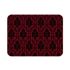 Elegant Black And Red Damask Antique Vintage Victorian Lace Style Double Sided Flano Blanket (Mini)