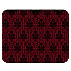 Elegant Black And Red Damask Antique Vintage Victorian Lace Style Double Sided Flano Blanket (Medium)