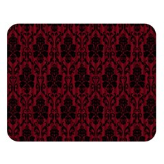 Elegant Black And Red Damask Antique Vintage Victorian Lace Style Double Sided Flano Blanket (Large)