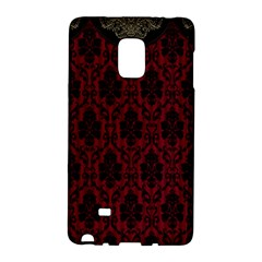 Elegant Black And Red Damask Antique Vintage Victorian Lace Style Galaxy Note Edge