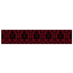 Elegant Black And Red Damask Antique Vintage Victorian Lace Style Flano Scarf (Small)