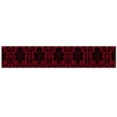 Elegant Black And Red Damask Antique Vintage Victorian Lace Style Flano Scarf (Large)