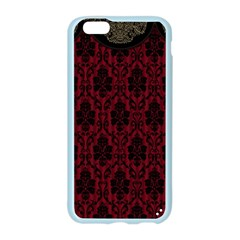 Elegant Black And Red Damask Antique Vintage Victorian Lace Style Apple Seamless iPhone 6/6S Case (Color)