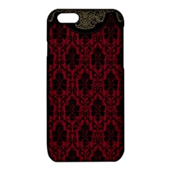 Elegant Black And Red Damask Antique Vintage Victorian Lace Style iPhone 6/6S TPU Case