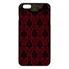 Elegant Black And Red Damask Antique Vintage Victorian Lace Style iPhone 6 Plus/6S Plus TPU Case