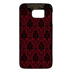 Elegant Black And Red Damask Antique Vintage Victorian Lace Style Galaxy S6