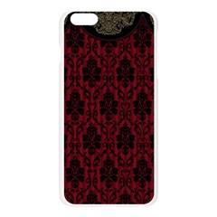 Elegant Black And Red Damask Antique Vintage Victorian Lace Style Apple Seamless iPhone 6 Plus/6S Plus Case (Transparent)