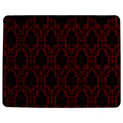 Elegant Black And Red Damask Antique Vintage Victorian Lace Style Jigsaw Puzzle Photo Stand (Rectangular)