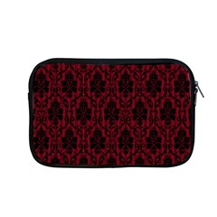 Elegant Black And Red Damask Antique Vintage Victorian Lace Style Apple MacBook Pro 13  Zipper Case