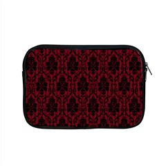 Elegant Black And Red Damask Antique Vintage Victorian Lace Style Apple MacBook Pro 15  Zipper Case