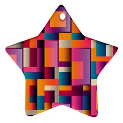 Abstract Background Geometry Blocks Ornament (star)