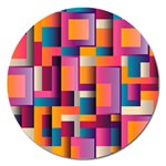 Abstract Background Geometry Blocks Magnet 5  (Round) Front