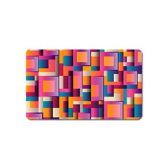 Abstract Background Geometry Blocks Magnet (name Card)