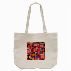 Abstract Background Geometry Blocks Tote Bag (Cream)