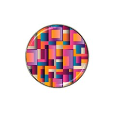 Abstract Background Geometry Blocks Hat Clip Ball Marker (10 pack)