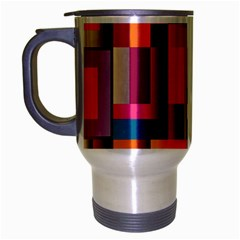 Abstract Background Geometry Blocks Travel Mug (Silver Gray)