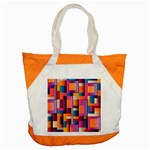 Abstract Background Geometry Blocks Accent Tote Bag Front
