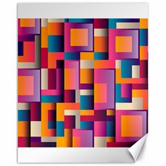 Abstract Background Geometry Blocks Canvas 16  X 20