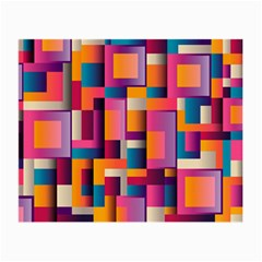 Abstract Background Geometry Blocks Small Glasses Cloth (2 Side)