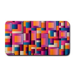 Abstract Background Geometry Blocks Medium Bar Mats