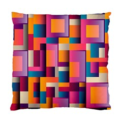 Abstract Background Geometry Blocks Standard Cushion Case (One Side)