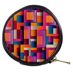 Abstract Background Geometry Blocks Mini Makeup Bags