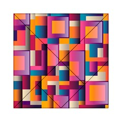 Abstract Background Geometry Blocks Acrylic Tangram Puzzle (6  x 6 )