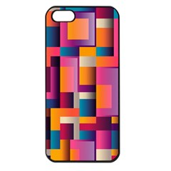 Abstract Background Geometry Blocks Apple iPhone 5 Seamless Case (Black)