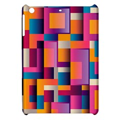 Abstract Background Geometry Blocks Apple iPad Mini Hardshell Case