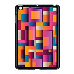 Abstract Background Geometry Blocks Apple iPad Mini Case (Black)
