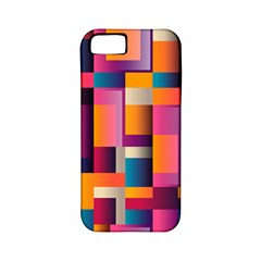 Abstract Background Geometry Blocks Apple iPhone 5 Classic Hardshell Case (PC+Silicone)