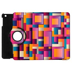 Abstract Background Geometry Blocks Apple iPad Mini Flip 360 Case