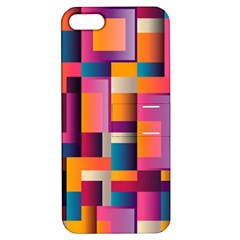 Abstract Background Geometry Blocks Apple Iphone 5 Hardshell Case With Stand