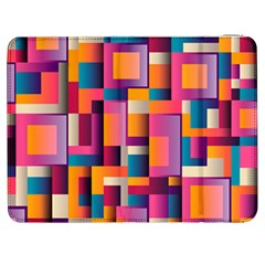 Abstract Background Geometry Blocks Samsung Galaxy Tab 7  P1000 Flip Case