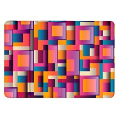 Abstract Background Geometry Blocks Samsung Galaxy Tab 8.9  P7300 Flip Case