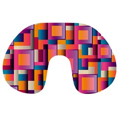 Abstract Background Geometry Blocks Travel Neck Pillows