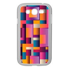 Abstract Background Geometry Blocks Samsung Galaxy Grand DUOS I9082 Case (White)