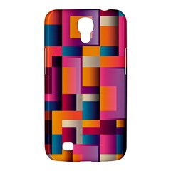 Abstract Background Geometry Blocks Samsung Galaxy Mega 6.3  I9200 Hardshell Case