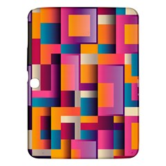 Abstract Background Geometry Blocks Samsung Galaxy Tab 3 (10 1 ) P5200 Hardshell Case