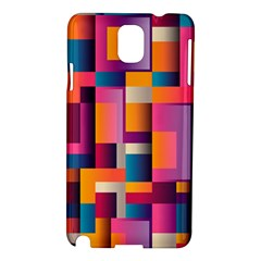 Abstract Background Geometry Blocks Samsung Galaxy Note 3 N9005 Hardshell Case